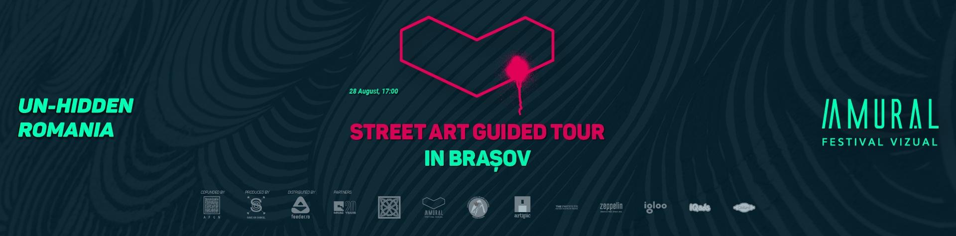 2021 Un-hidden Romania Amural Street art tour in Brasov