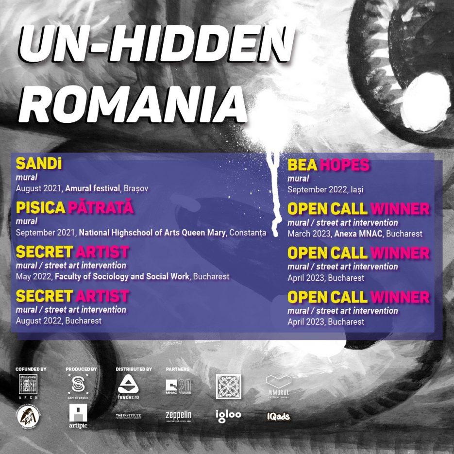 Un-hidden Romania artisti 2021 2023